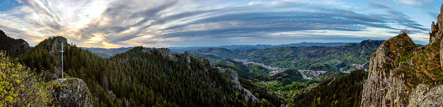 The View from Nevyasta Hill, Smolyan, Bulgaria, Rhodope Mountain, Sunrise panorama
