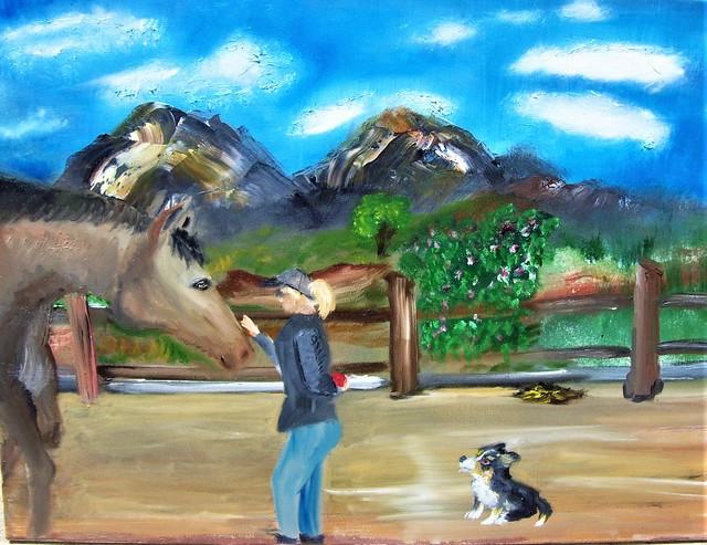 Annalisa painting