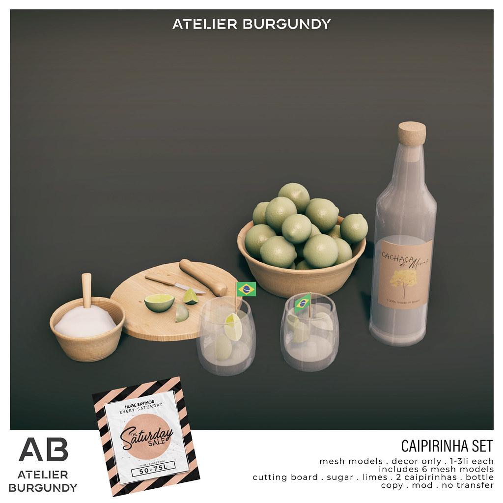 Atelier Burgundy . Caipirinha