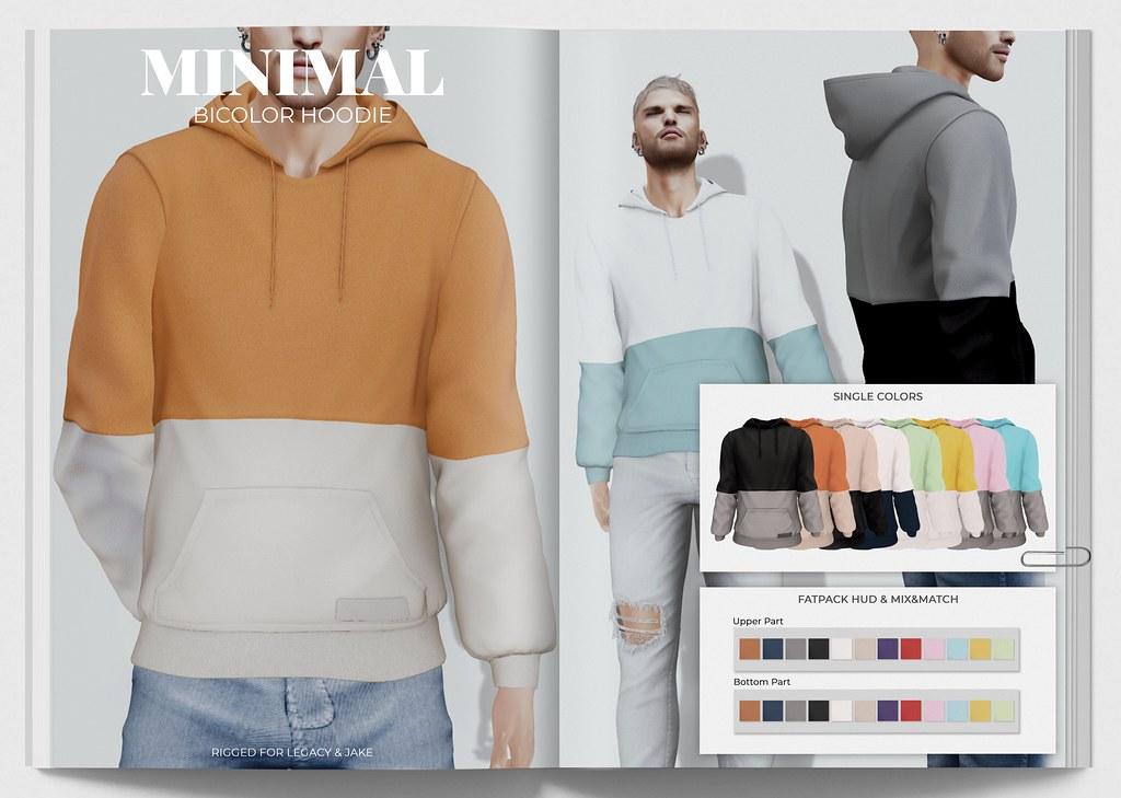 MINIMAL – Bicolor Hoodie