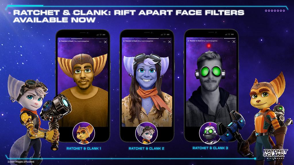 Ratchet & Clank: Rift Apart face filters