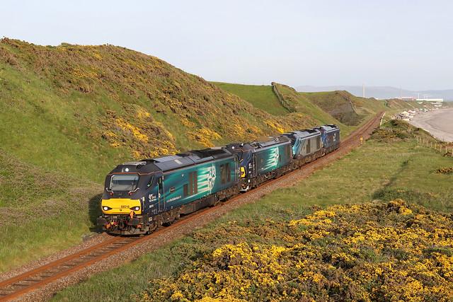 68016 'Fearless' (88006 'Juno' 68023 'Achilies 68007 'Valiant') 0C46 1902 Sellafield to Carlisle Kingmoor 05-2021