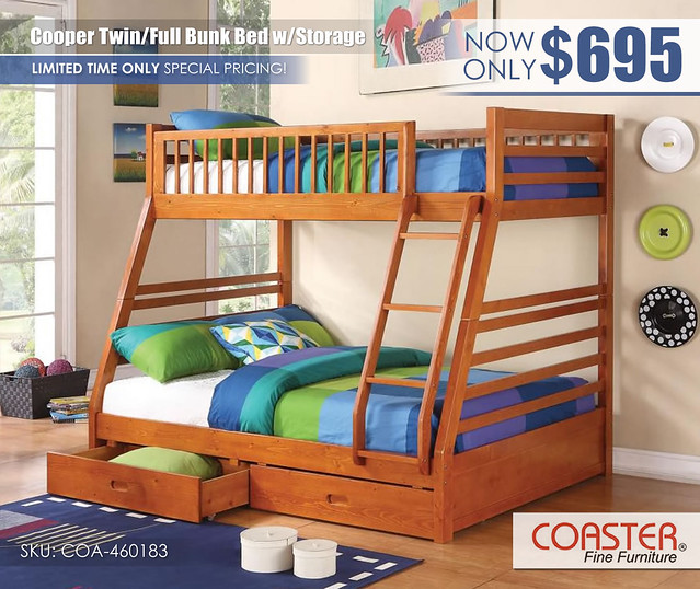 Coaster Cooper_Twin over Full Bunk Bed Special_460183