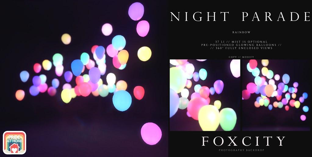 FOXCITY. Photo Booth – Night Parade (Rainbow)