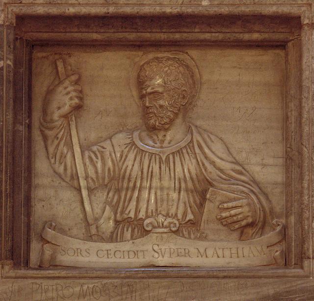 Padova, Veneto, Basilica de Santa Giustina, chapel # 8 {saint Matthias}, sarcophagus, detail