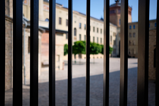 Well fenced courtyard