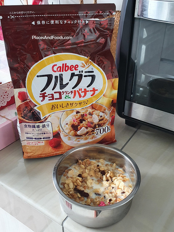 calbee chocolate banana