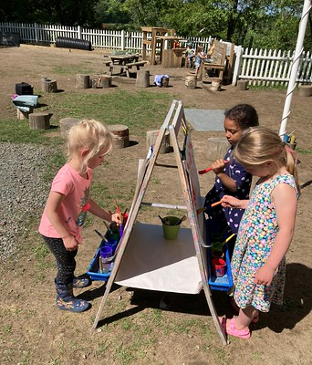artists at the easel