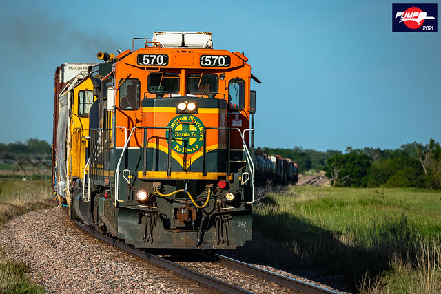 Westbound BNSF Local Train at Harvard, NE