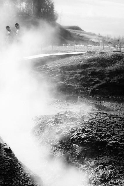 Secret lagoon of Iceland