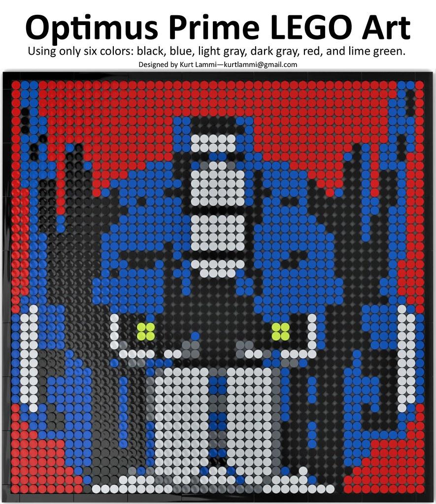 Optimus Prime LEGO Art