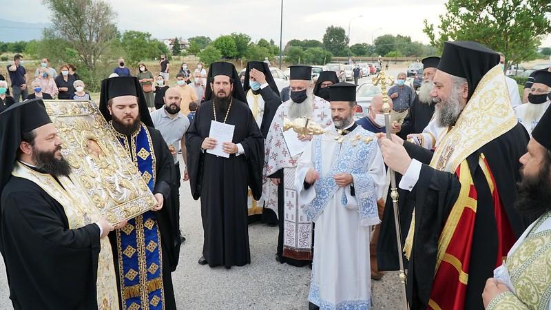 Εσπερινός Εγκαινίων Ιερού Ναού Αγίου Οικουμενίου Σεισμοπλήκτων Τρικάλων 4.6.2021