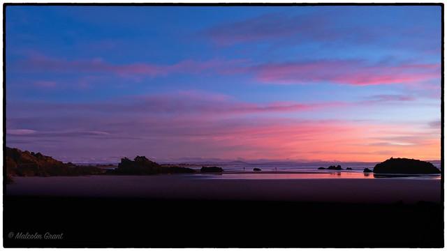 Pink glow, Sumner beach.