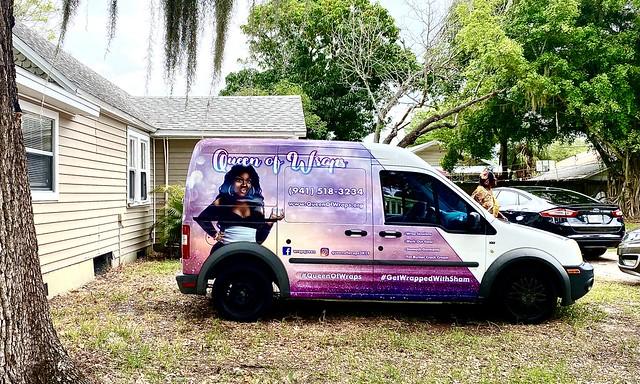The Queen of Wraps and her van