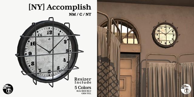 [NY] Accomplish - Caged Clock