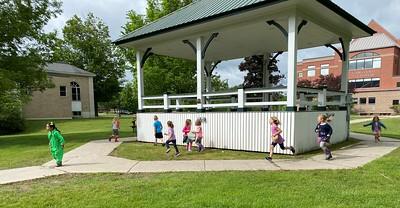 running around the bandstand