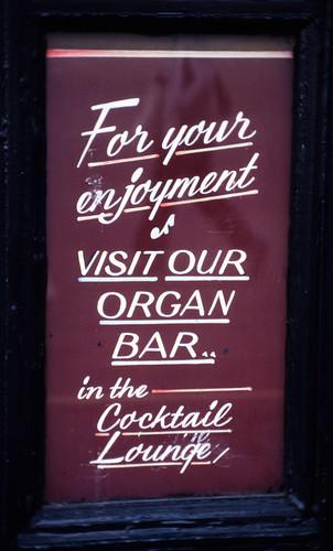 Visit Our Organ Bar