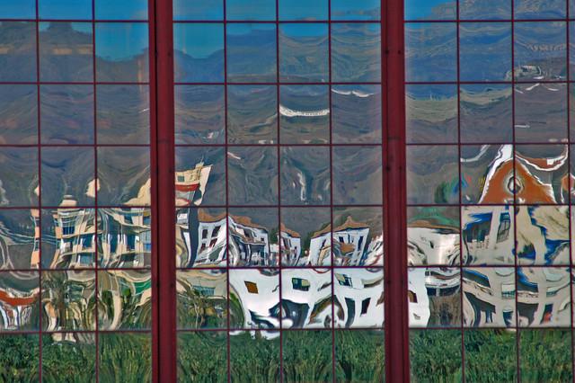 Mirroring of Almuñecar, Spain.