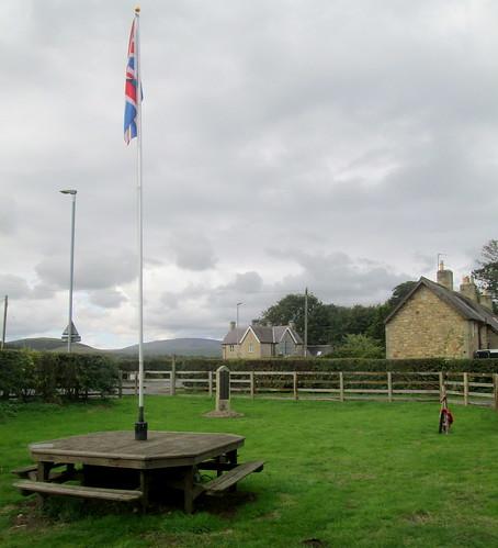 Flag at Breamish War Memorial