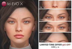 Evo X Age Spots, Frown Lines, Crow's Feet & Forehead Lines