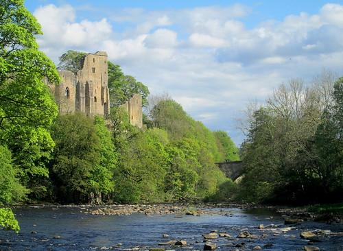 Barnard Castle + Bridge, County Durham, River Tees