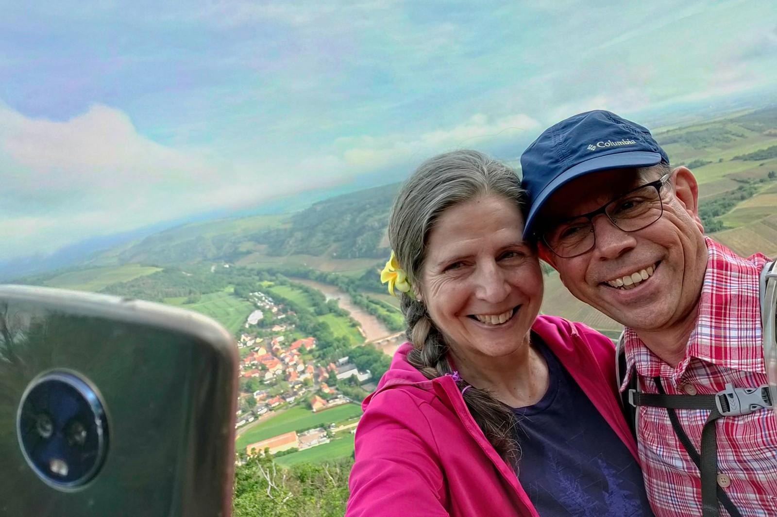 Selfie am Aussichtspunkt an der Lemberghütte