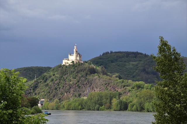 spring walks on the Rhein: famous castles