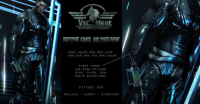 Prototype armor and cyberphone @Cyberfair