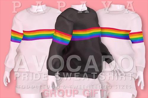 Papaya AVOCADO PRIDE Sweatshirt Group Gift ♥
