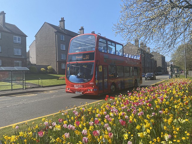 McGill's open topper working the 540 service between Lunderston Bay and Greenock