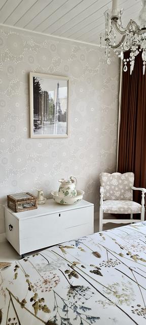 Dekenkist wit slaapkamer landelijk brocante