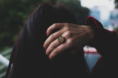 Girl with a glass ring