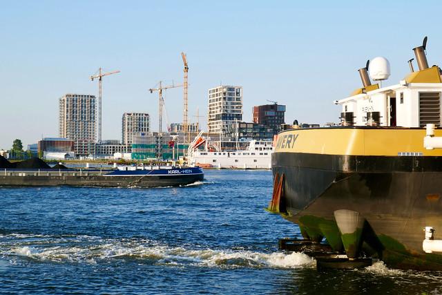 River IJ and North Amsterdam skyline
