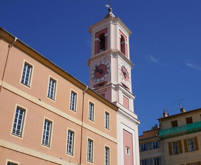 Tour de l'Horloge, 1718, place du Palais de Justice, Nice, Alpes maritimes, Provence-Alpes-Côte d'Azur, France.