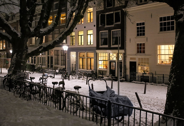 Snow in Amsterdam also appeals to the imagination of poets and writers