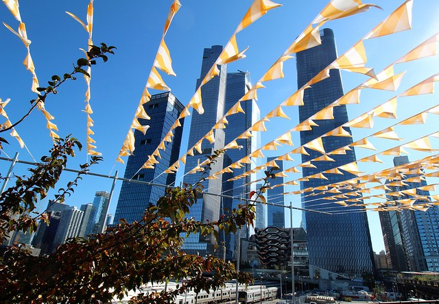 USA - NYC - Hudson Yards - The flags