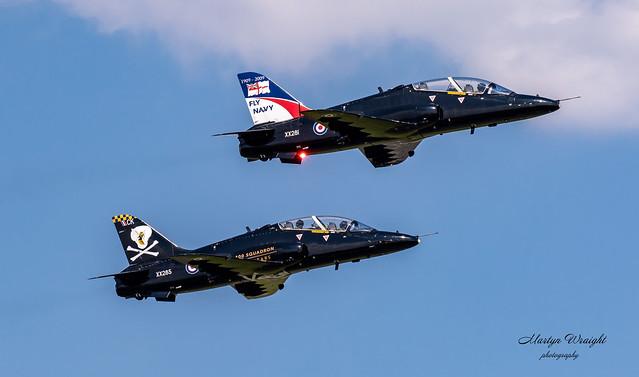 Pair of Royal Air Force BAE Hawk T1's
