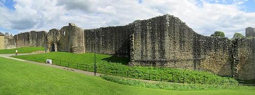 Barnard Castle stitch, County Durham, castle ruin