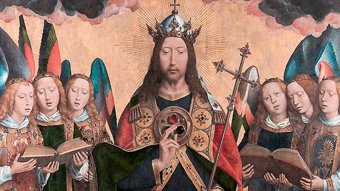 Memling- Cristo con ángeles