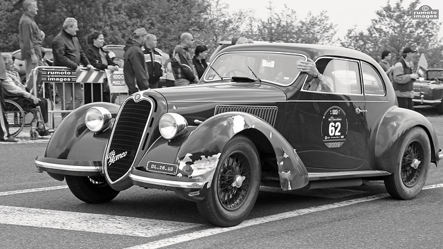 1938 Alfa Romeo 6C 2500 SS Mille Miglia (c) Bernard Egger :: rumoto images 3106 bw