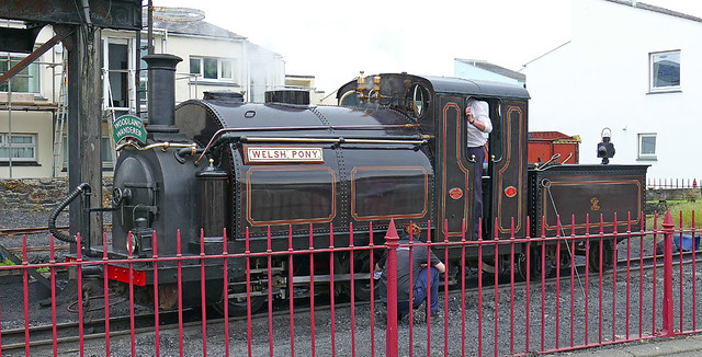 RD21805.  WELSH PONY at Harbour Station.