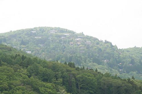 山中湖 みさきキャンプ場からの眺め