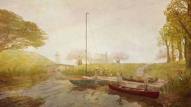 sailboat and canoe