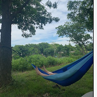 Relaxing in the Hammock Before the Royals Played