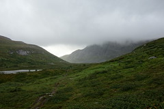 Durrenskalet appears out of the clouds.