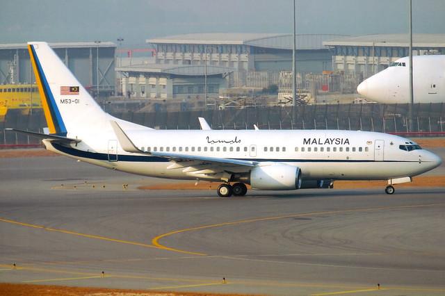 Royal Malaysian Air Force | Boeing 737-700 BBJ | M53-01 | Hong Kong International