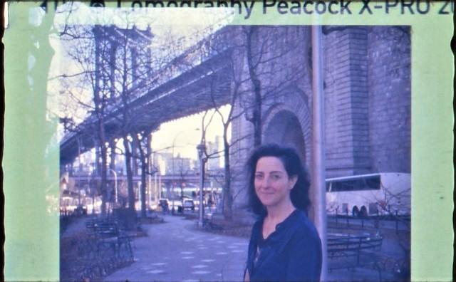Catherine on Lomography Peacock 110mm film