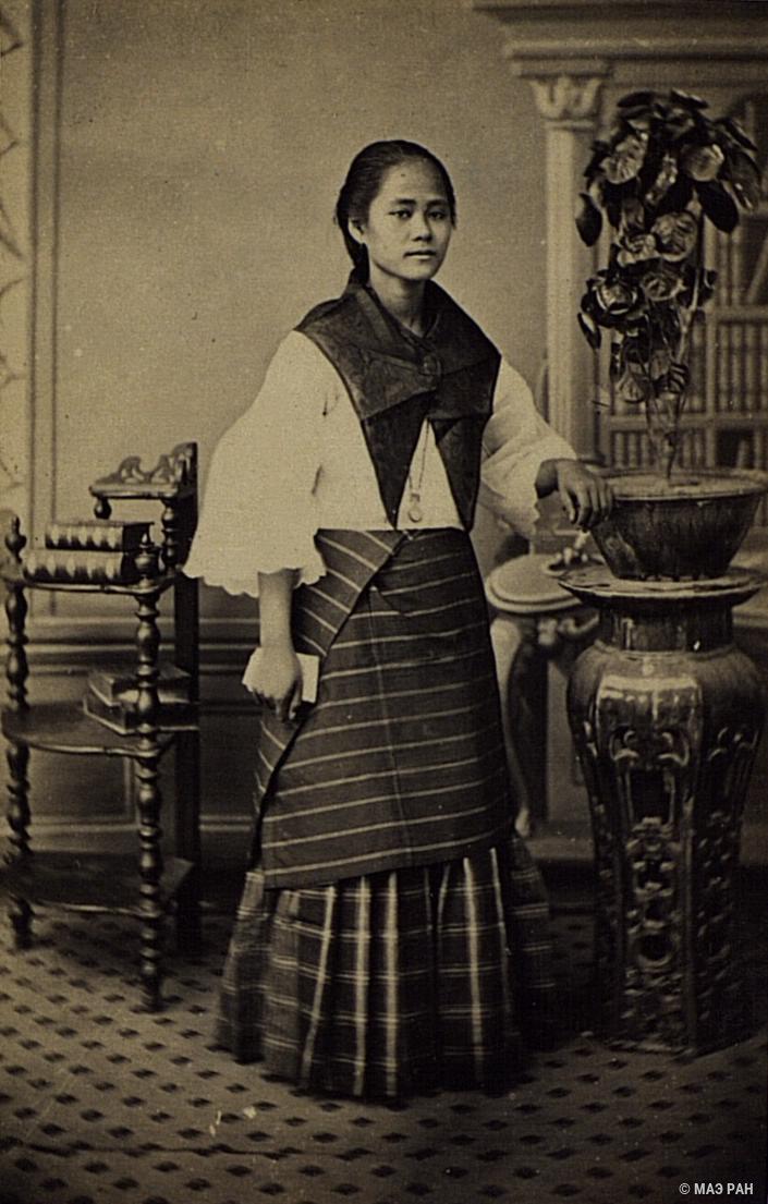 Портрет девушки. Филиппины, город Манила