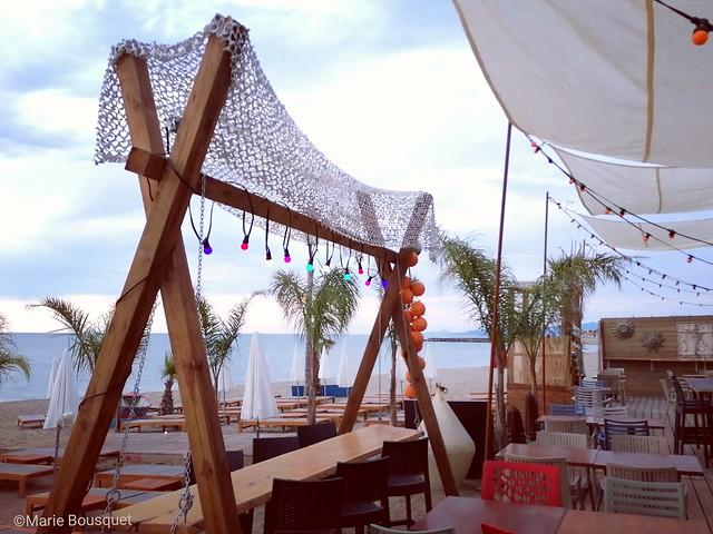 La déco du restaurant de plage