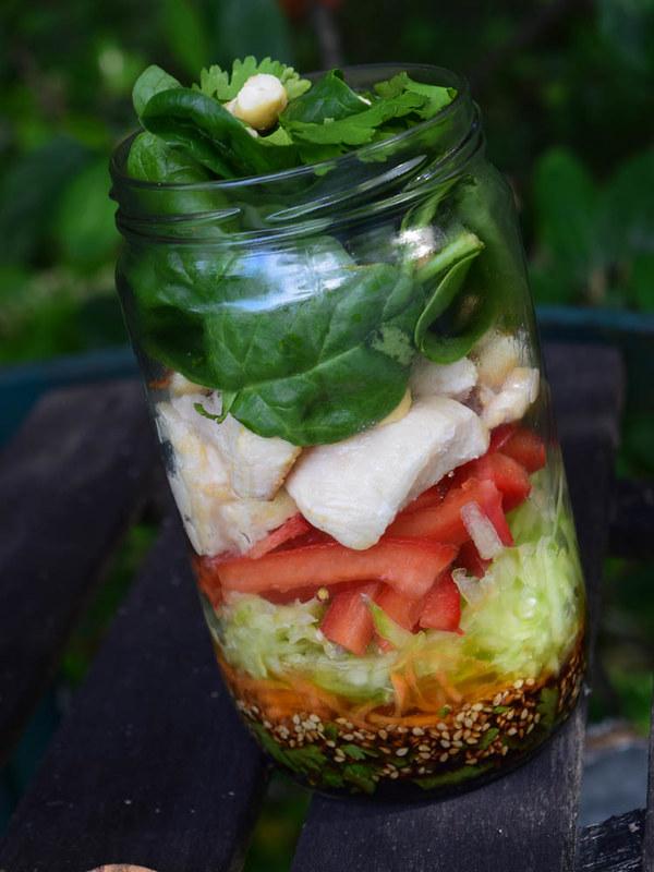 Salade en bocal asiatique 2